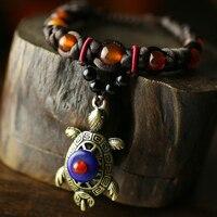 CNANIYA brand stone bracelet charms Indian jewelry tribal ethnic style adjustable antique tortoise bracelets from India/bileklik