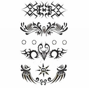 free shipping-Cool  waist & wrist Temporary tattoo Waterproof body tattoo stickers mix 15pcs/lots