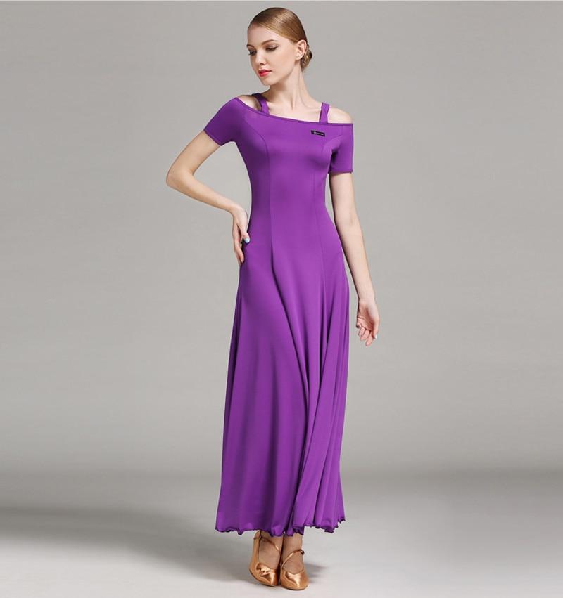Taneční šaty Taneční šaty Krátký rukáv Stádium Waltz Soutěž Kostým Ženy Levné Flamenco Taneční oblečení Společenské šaty