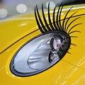 2 pcs 3D Preto Encantador Cílios Postiços Falso Eye Lash Adesivo Decoração Do Farol Do Carro Engraçado Decalque Para Besouro
