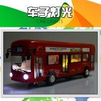 Сплав Лондонский автобус двухэтажный автобус света и музыки открыть дверь Дизайн металла автобус литой автобус Дизайн для лондонцев Игруш...