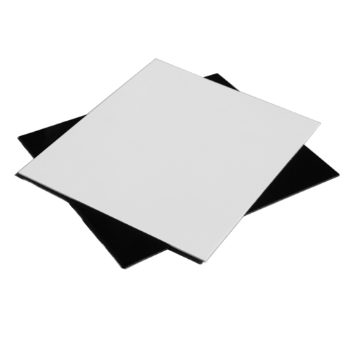 Prix pour 2 peças/lote noir et blanc plate - forme d'affichage carte réflexion effet Studio tir 25 x 30 cm