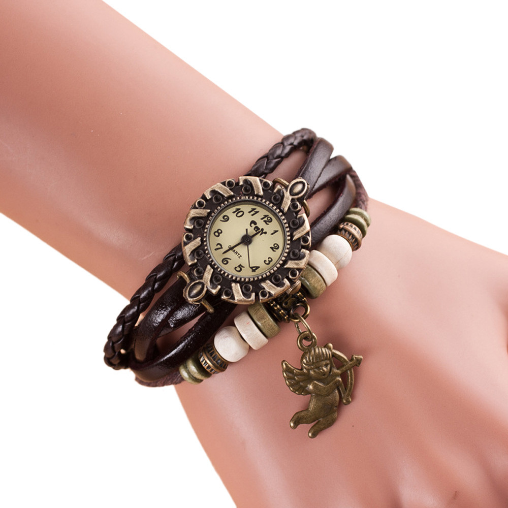 fashion montre femme womens watches quartz relojes mujer weave around bracelet watch lady wrist. Black Bedroom Furniture Sets. Home Design Ideas