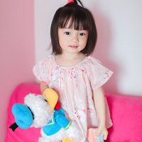 2017 New Summer Peach Flower BP Style Baby Girl Pink Blouse Floral Tee Tops Blouse Party