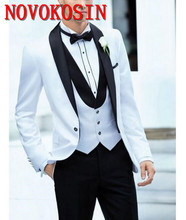 New Arrival Woolen Custom Made Mens Groom Suits Wedding Formal Business Blazers Ternos Masculino Tuxedos For Men