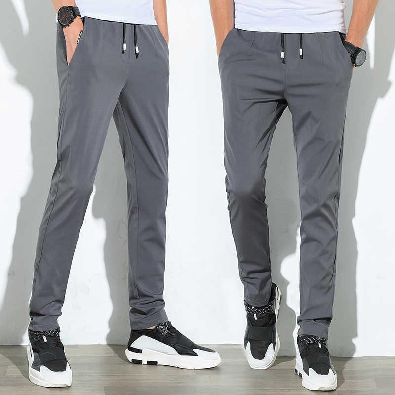 26ea91202c4f Повседневное для мужчин пот штаны мужские хлопковые Спортивная мотобрюки  прямые брюки для ...