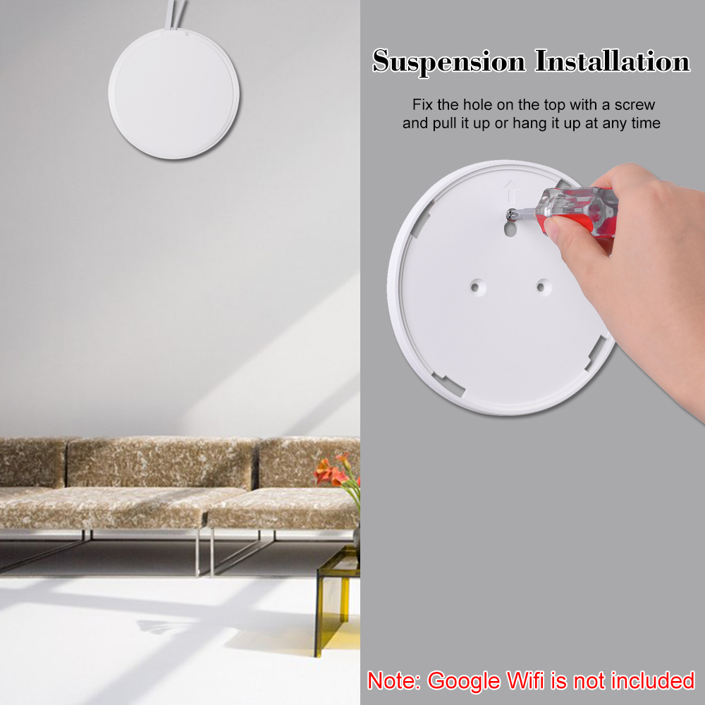 Image 4 - 1PCS/3PCS Wall Table Mount Bracket for Google Wifi Security Bracket White-in CCTV Accessories from Security & Protection