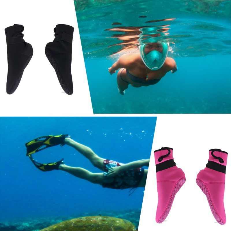 1 زوج جوارب الغوص السباحة التمهيد الجوارب الغوص بدلة غطس مصنوعة من المطاط الصناعي منع الخدوش الاحترار الغوص الجوارب الكبار XS-XL 3 مللي متر