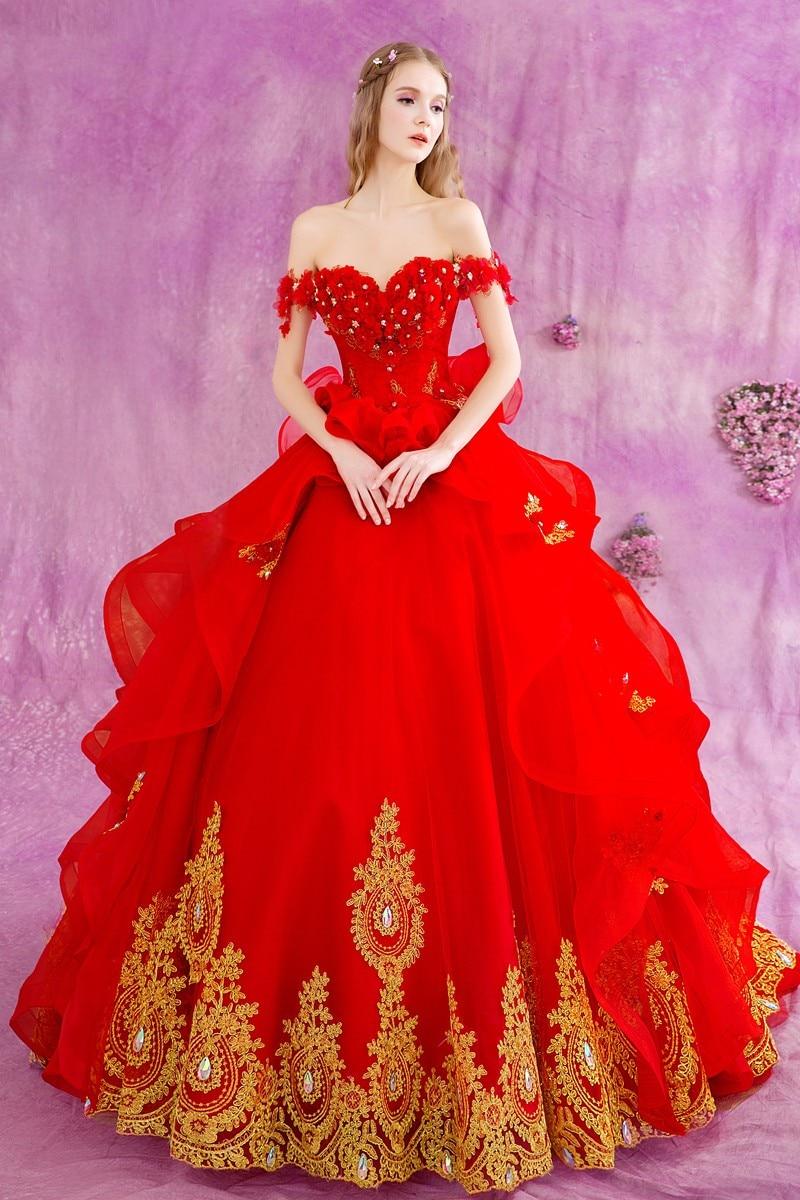 Excelente Vestido De Bola De Los Vestidos De Novia Festooning ...