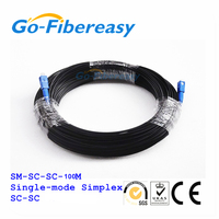 100Meters FTTH Fiber Optic Drop Cable Patch Cord SC to SC Single mode Simplex