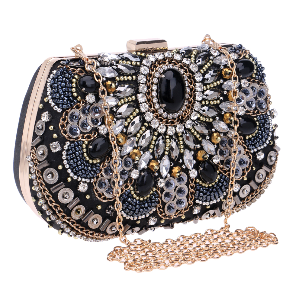 SEKUSA Women Evening Bags Beaded Wedding Handbags Clutch Purse Evening Bag For Wedding Day ...