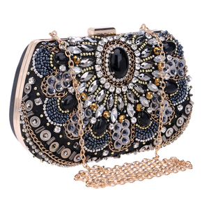 Image 2 - SEKUSA women evening bags beaded wedding handbags clutch purse evening bag for wedding day clutches evening bags embroidery bags