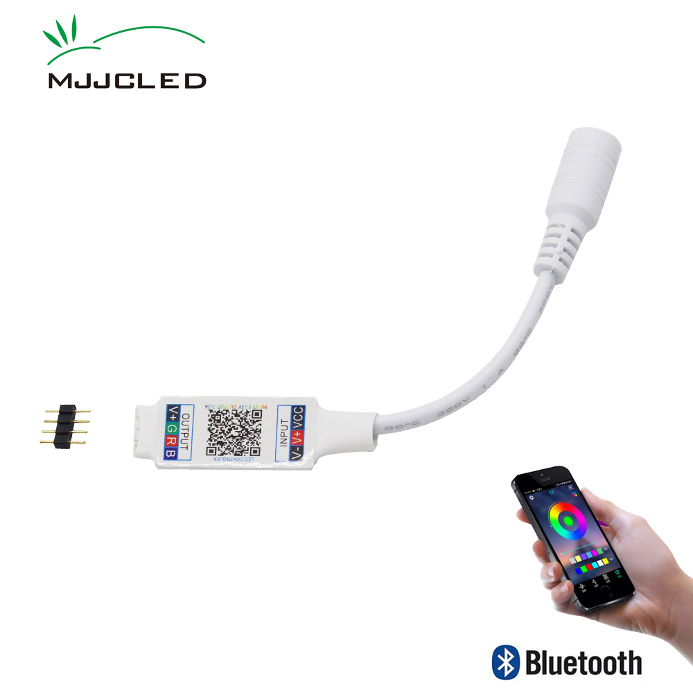 Wifi Mini RGB Bluetooth Controller DC 5V 12V 24V Mini Music Bluetooth Controller Light Strip Controller For RGB RGBW LED Strip