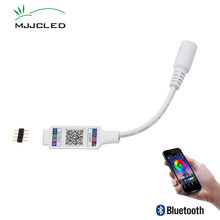 Wifi Mini RGB Bluetooth Controller DC 5V 12V 24V Mini Music Bluetooth Controller Light Strip Controller For RGB RGBW LED Strip(China)