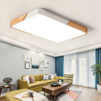 2019 thin led ceiling lights bedroom lamps modern with Color polarizer luminaria lamps child luminaire lampe deco with Wooden