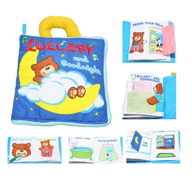 JJOVCE Infant Development baby Cloth Books educational