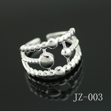 Free shipping silver ring Simple fashion jewelry silver ring Fashionable restore ancient ways smooth the moon stars ring