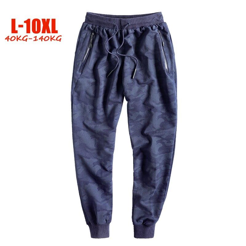 2019 New Big Size Men Pants 7XL 8XL 9XL 10XL Elastic Waist Plus Size Men Sweatpants Loose Casual Camouflage Joggers Men 40-140kg