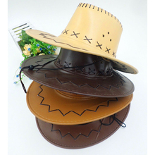 Brand spring fall Wide-brimmed cowboy hat men and women leather Big edge cap waterproof Sunscreen Jazz 2019 new
