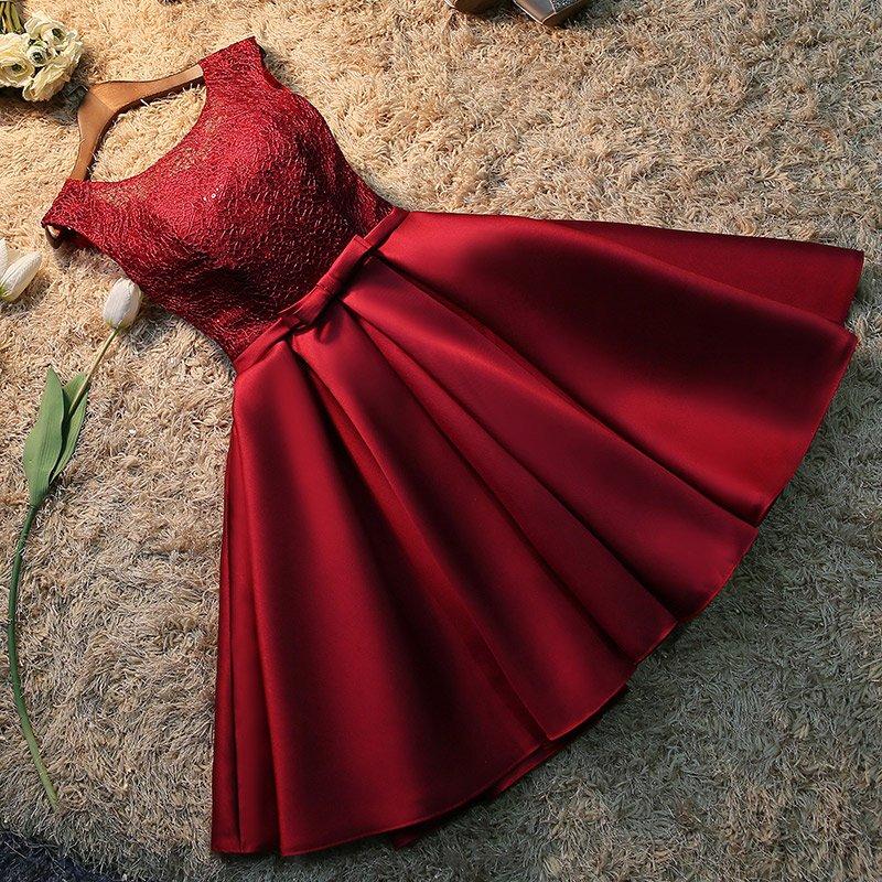 Robe de soiree 2019 korte kant plus size lace up avondjurk vestido de - Jurken voor bijzondere gelegenheden - Foto 3