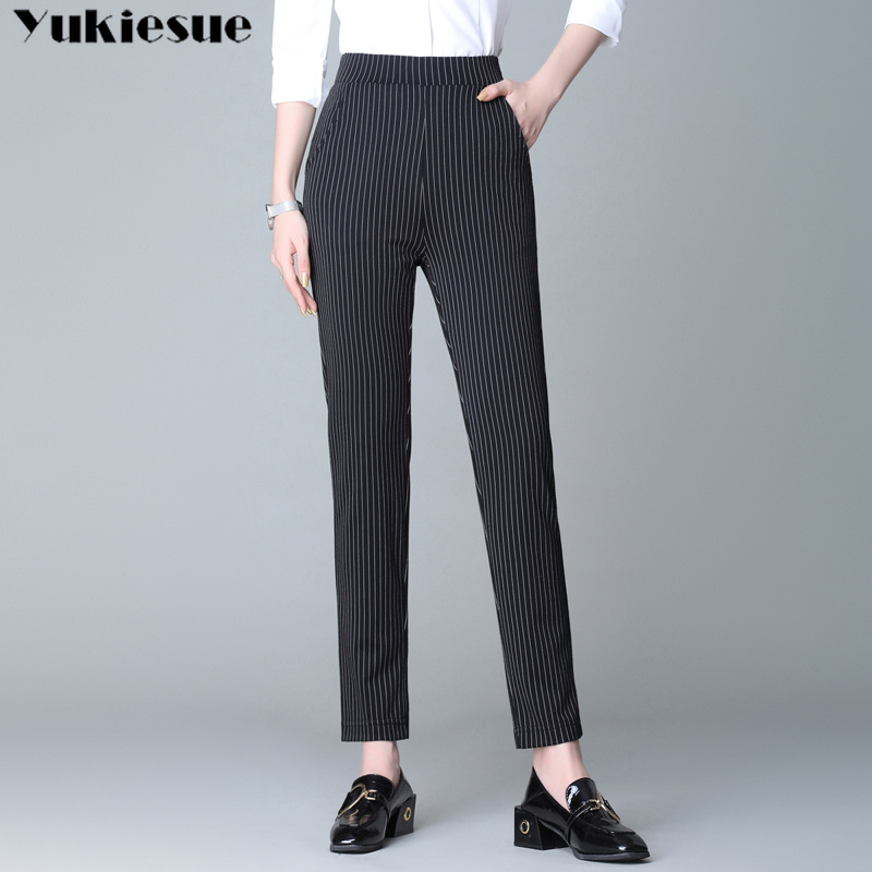 streetwear striped print harem pants for women trousers women's pants capris loose casual pants female Plus large size 4XL