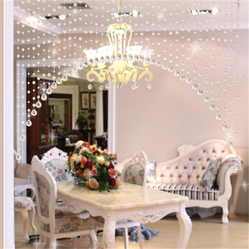 1 Meters Of Crystal Glass Bead Curtain Curtain Channel Background DIY Home  Furnishing Wedding Decoration In Curtains From Home U0026 Garden On  Aliexpress.com ...
