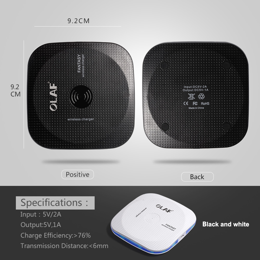 Marjay 10W Qi Wireless Charger for iPhone X88 Plus Fast Wireless Charging pad for Samsung S9S9+ S8 Note 9 9+ 8 Xiaomi Huawei