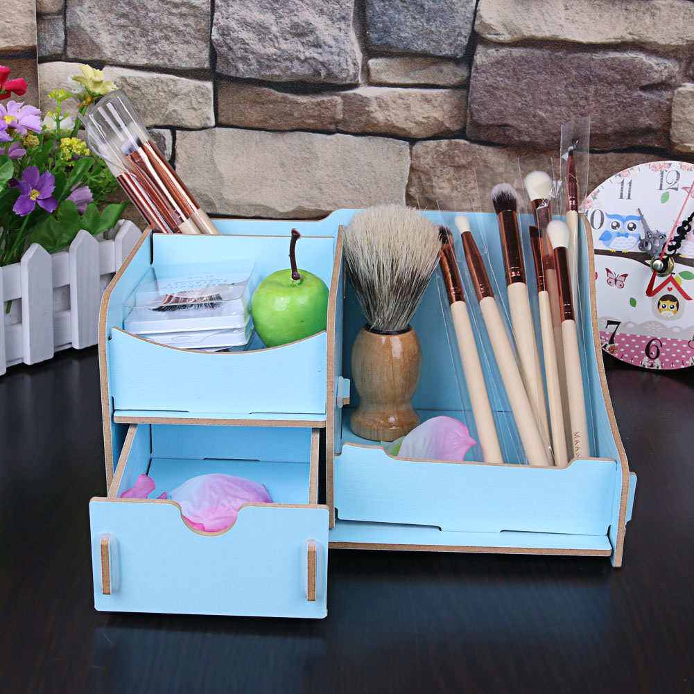 Two Layer DIY Cosmetic Storage Box Assembly Jewelry Storage Box ...