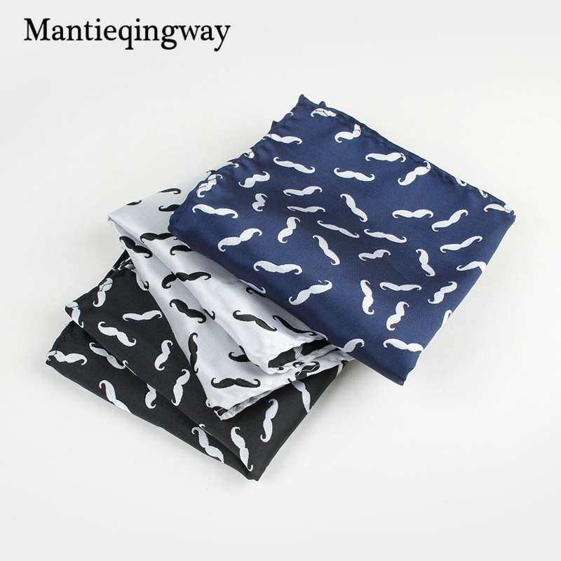 Mantieqingway Unisex Polyester 25*25cm Fashion Handkerchief For Men Women Suit Wedding Mens Pocket Squares Business Towel Hanky