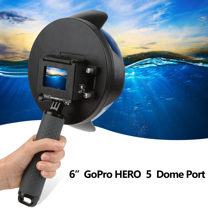 6 inch 40m Diving Dome Port for GoPro Hero 5 Black Action Camera with Waterproof House Case Go Pro Hero 5 Session Accessories цена и фото
