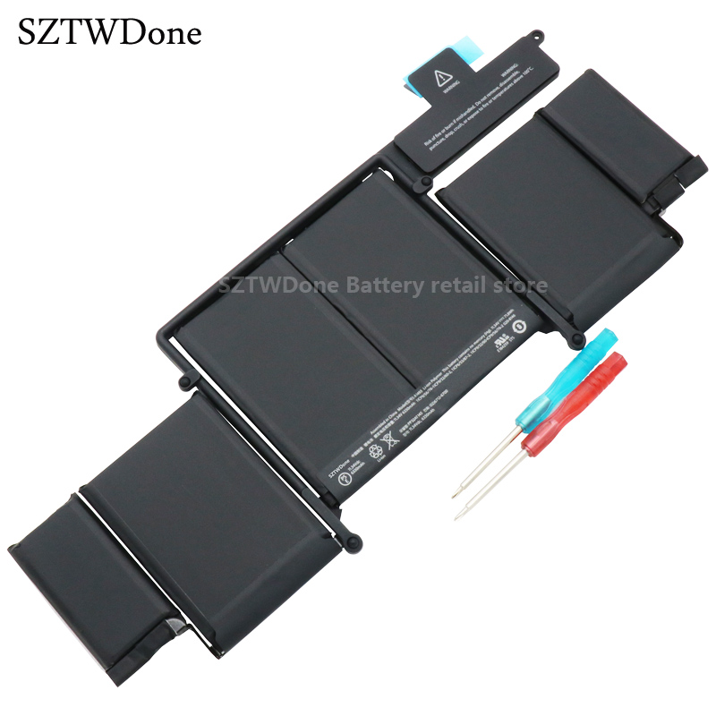 SZTWDone Original A1493 Laptop Battery for Apple MacBook Pro 13 2013 Retina A1502 ME864LL/A ME866LL/A ME865LL/A MGX72 ME864 original a1706 a1708 lcd back cover for macbook pro13 2016 a1706 a1708 laptop replacement