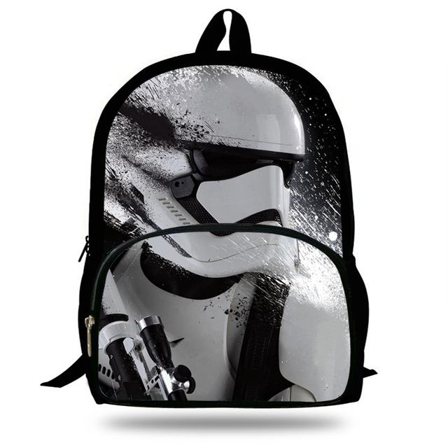 16inch Por School Bags For Boys Star Wars Backpack S Gift Book Bag Kids