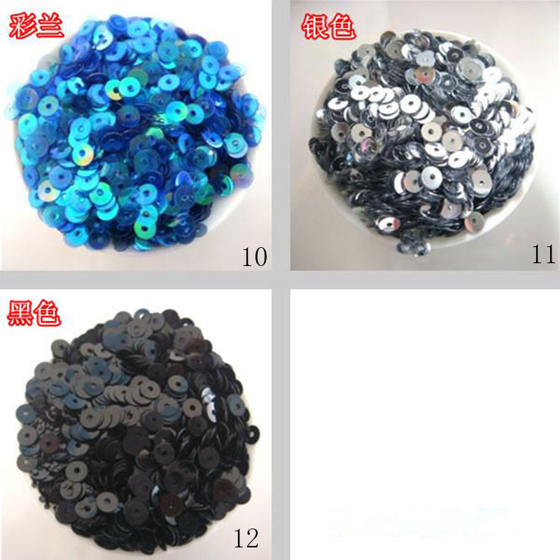 About 12000Pcs 100g New DIY 4mm Sparkling Round Loose Sequins - Arts, Crafts and Sewing - Photo 2