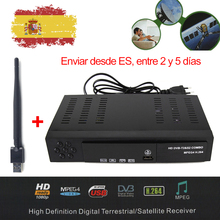 DMYCO DVB-S2 HD Satellite Receiver DVB-T2 DVB-S2 TV Tuner Support Biss Key Youtube MPEG-4 H.264 DVB Satellite Receiver +USB Wifi