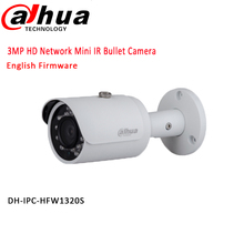Original DAHUA 3MP Red IR 30 M Cámara de La Bala 1080 P Impermeable al aire libre cámara IP full HD POE IPC-HFW1320S envío gratis