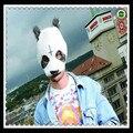 Free shipping Halloween Party Cosplay panda face head mask Cro Panda Mask Newly Style Party Fancy Dress Novelty Latex cool mask