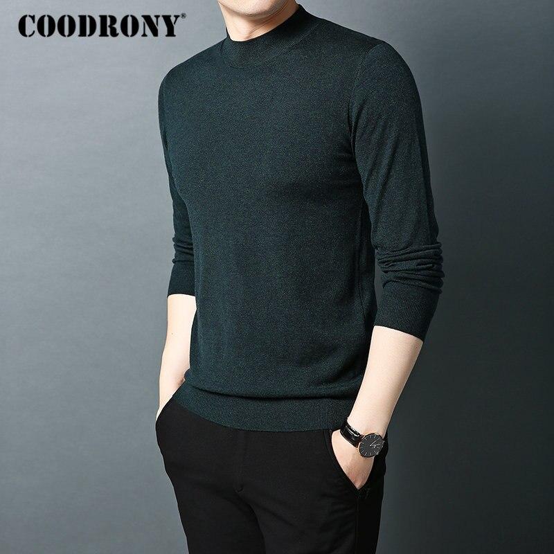 alta lã blusas clássico pulôver cor pura