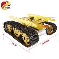 Tanque robô Chassis Do Carro Inteligente Obstáculo-superar o Rastreador Motor com Sensor Hall Crawler Track Brinquedo Veículo Rastreado
