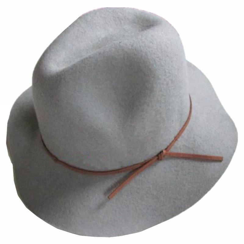 Grey Women Large Wide Brim Winter Wool Felt Floppy Hat-in Fedoras from  Apparel Accessories on Aliexpress.com  08dfa47c5fd7