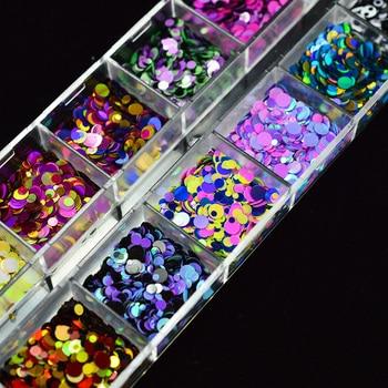 1 set Mixte Couleur 3D Ultra-Mince Paillettes Nail Glitter Flocons 1/2/3mm Scintillant BRICOLAGE Conseils Éblouissant paillette Nail Art Décorations TRP 1
