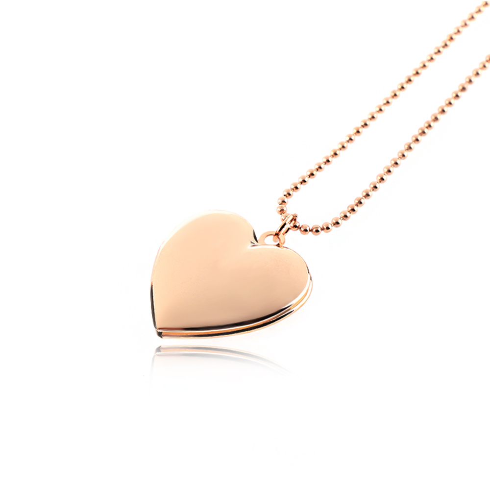 Silver/Rose Gold Heart Pendant