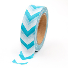 купить New 1x Striped Washi Tape DIY Decorative Tape Color Paper Adhesive Tapes по цене 63.73 рублей