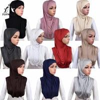 TOPMELON 10 Pieces Hijab Scarf Whole Sale Muslim Style shawl head Scarfs Headwear foe Women Sold Cotton Smooth Long Hijabs