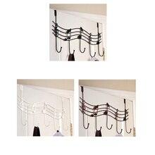 Home Bathroom Kitchen Coat/Hat/Bag Metal Music Style Hook Hanger Organizer Iron Robe Hooks Wall Hanging Hooks Home Door Holder