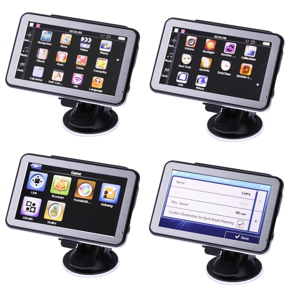 5 inch Touch Screen Car GPS Navigator FMs