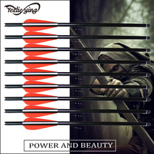 цена на 12pc13.5 shaft diameter of about 8.8mm black crossbow bolts aluminum arrows crossbow hunter archer hunter hunting