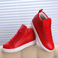New Arrival Top quality brand Black white Red casual Lace-up shoes Brand Trainers Women's High-top Shoes Traving shoes SIZE35-39