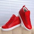 Nueva Llegada de la marca de calidad Superior Negro blanco Rojo con cordones ocasionales zapatos de Marca Entrenadores zapatos del Alto-top de Las Mujeres zapatos zapatos SIZE35-39 Traving