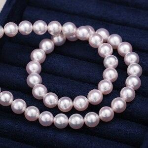 Image 3 - [YS] najwyższej jakości Hanadama perła biały japoński Akoya hodowane naszyjnik z pereł