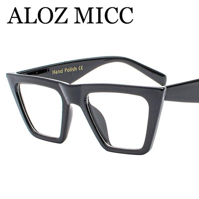 ALOZ MICC Fashion Women Cat eye Eyeglasses Frame Personality Big ...
